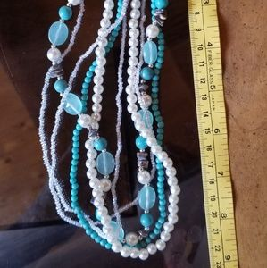 Necklace with pearl earrings by Love